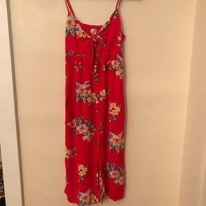 Cut out floral midi dress